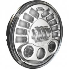 Led koplamp 18cm chrome